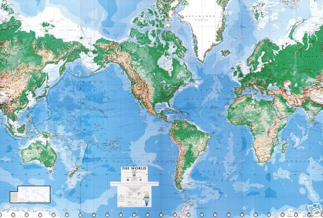equator to avoid that ice age World Map