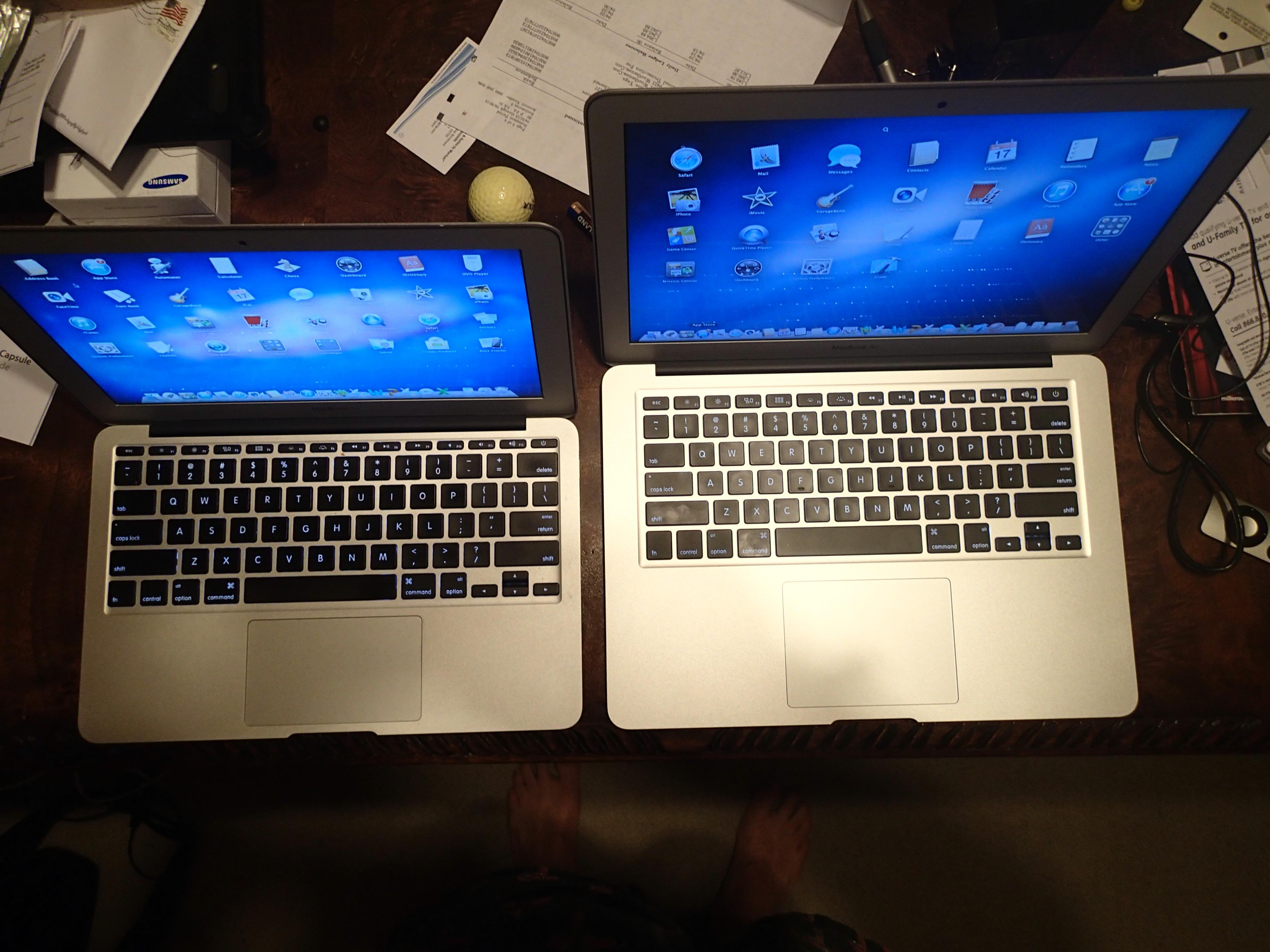 """mid-2011 11"""" Mac Air vs. new 13"""" Mac Air"""