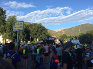 Start line of Pikes Peak Ascent