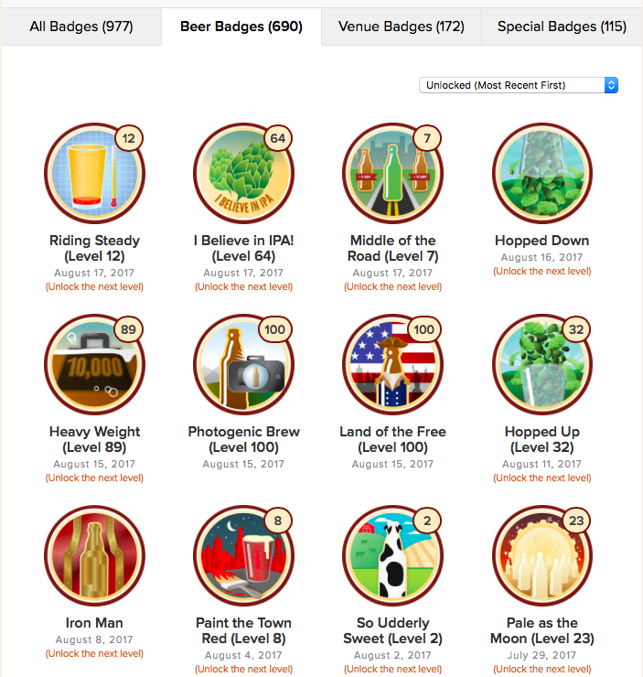 Untappd Beer Badges