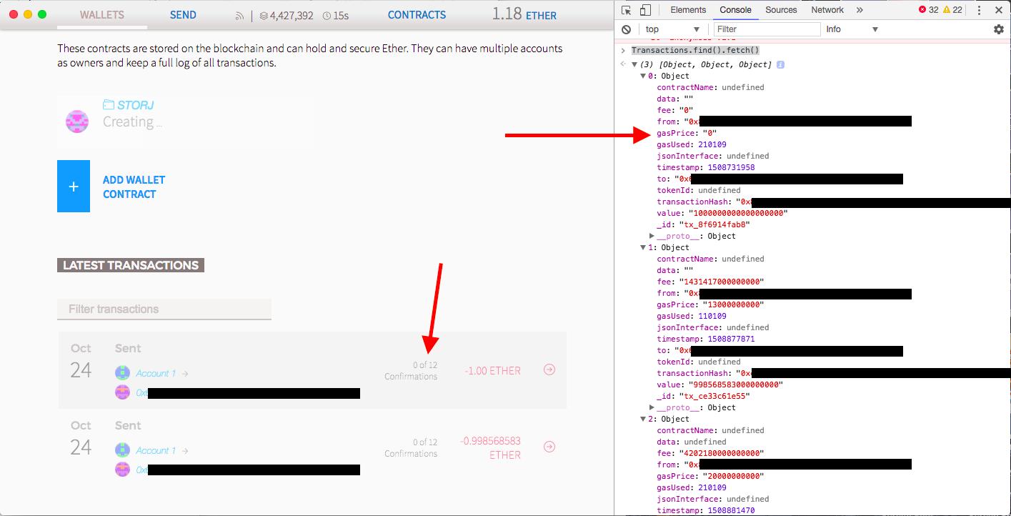 Mist Ethereum Wallet screenshot
