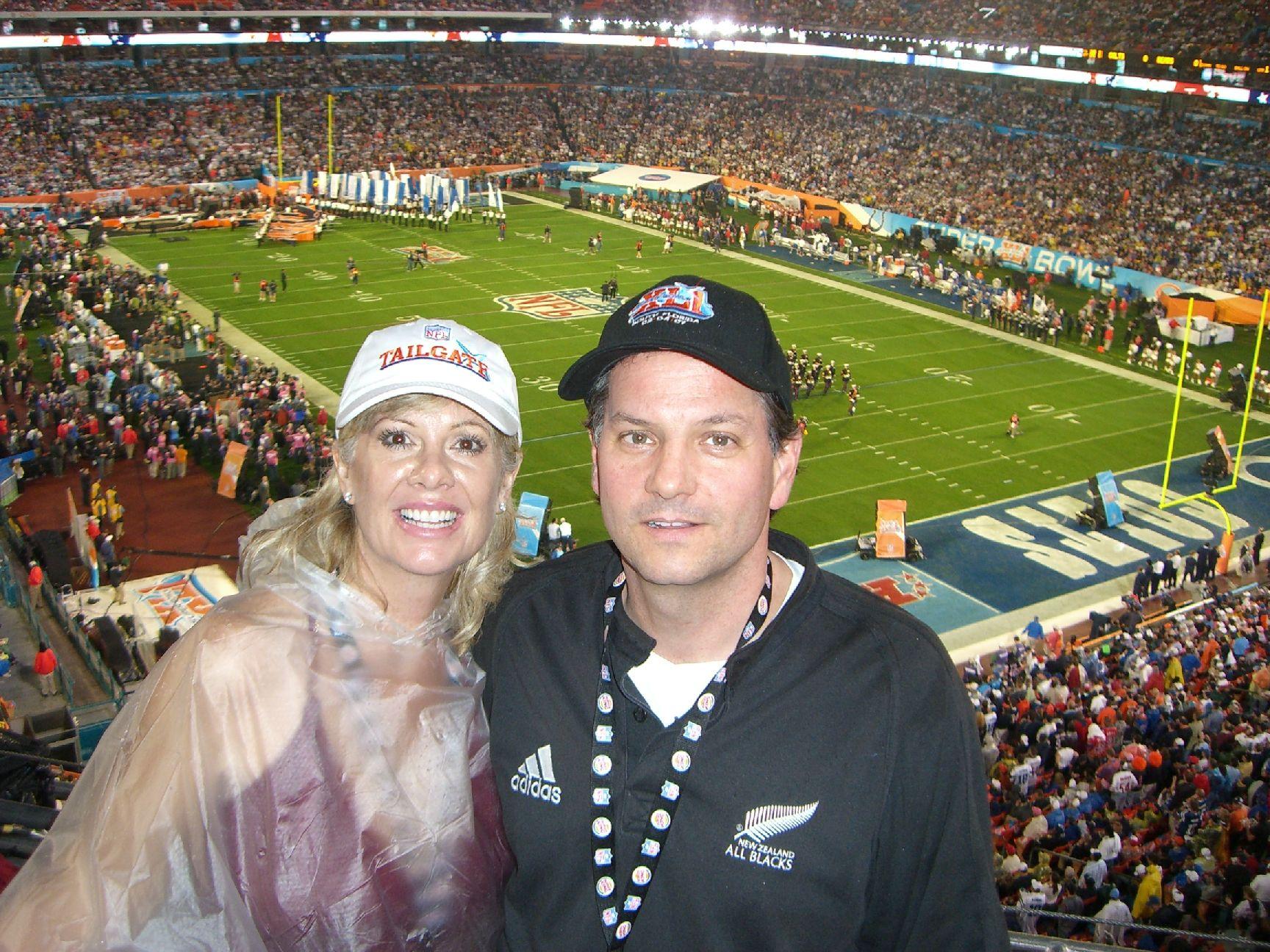 Us at the Super Bowl