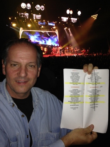 Rush set list