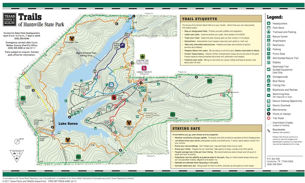 Trails Map - Huntsville State Park