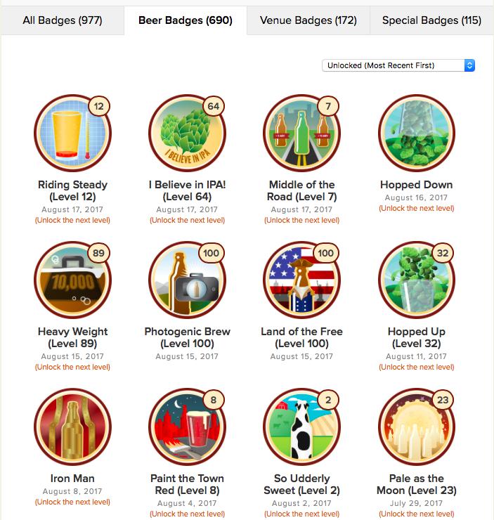 Untappd Beer Badges