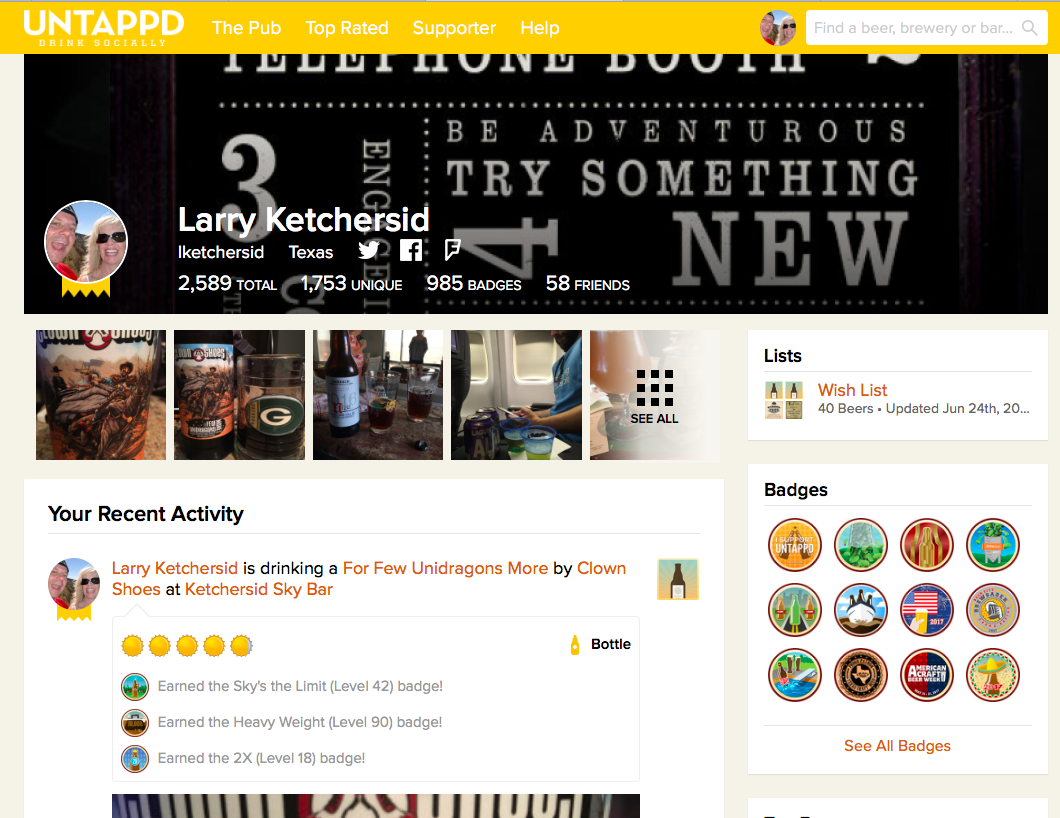 Untappd Venue Badges