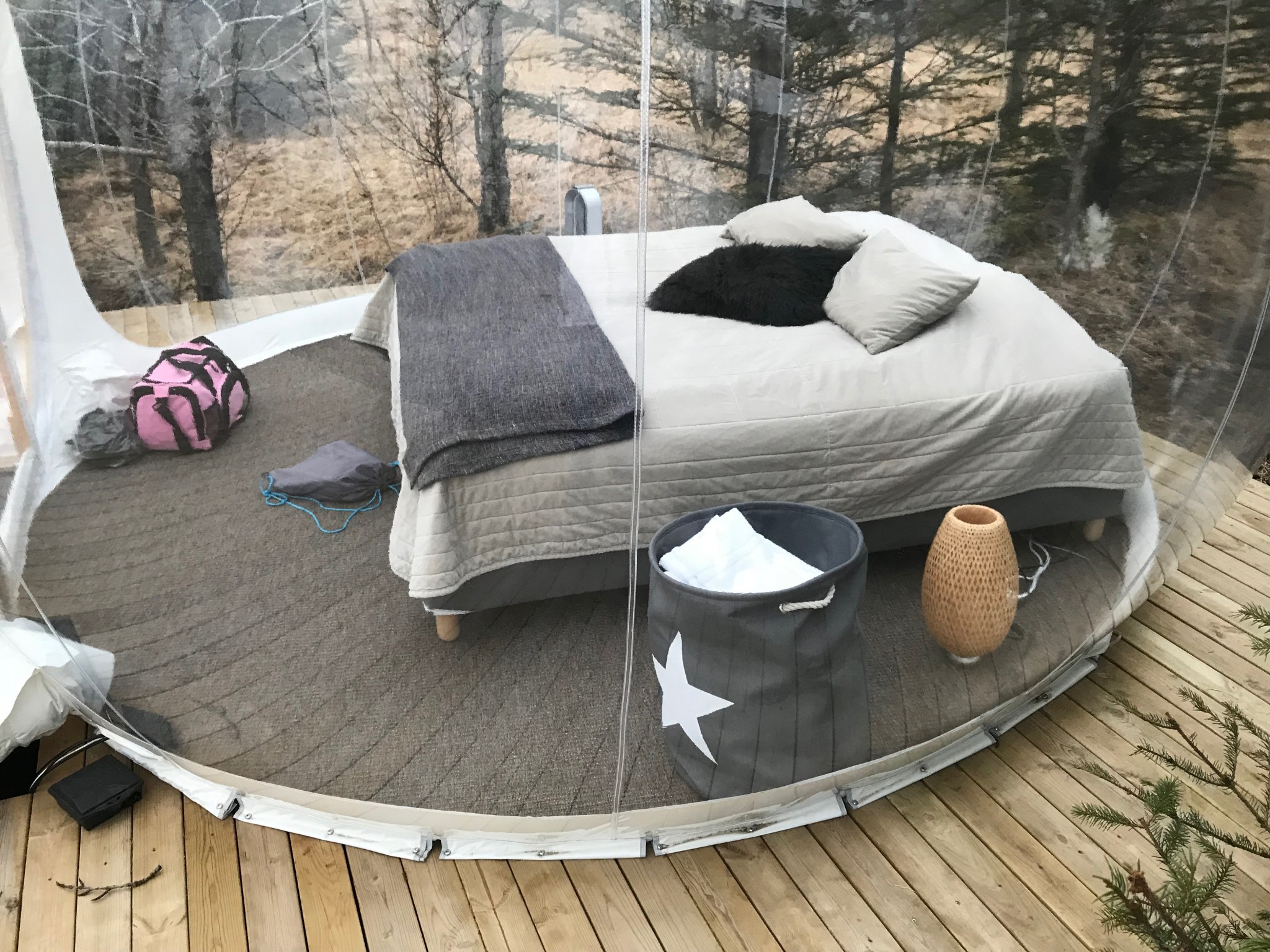 The Bed in the Buubble Iceland