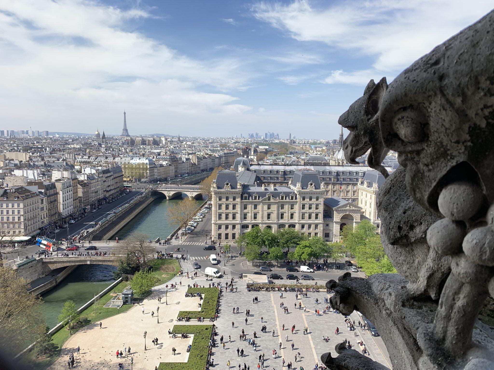 Notre-Dame gargoyle Eiffel