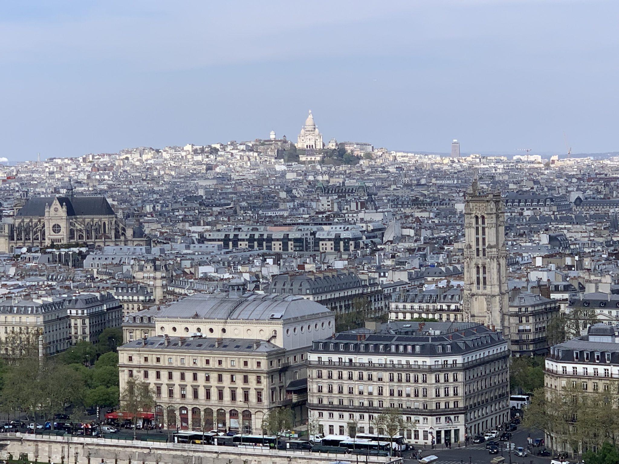 Notre-Dame toward Sacré-Cœur