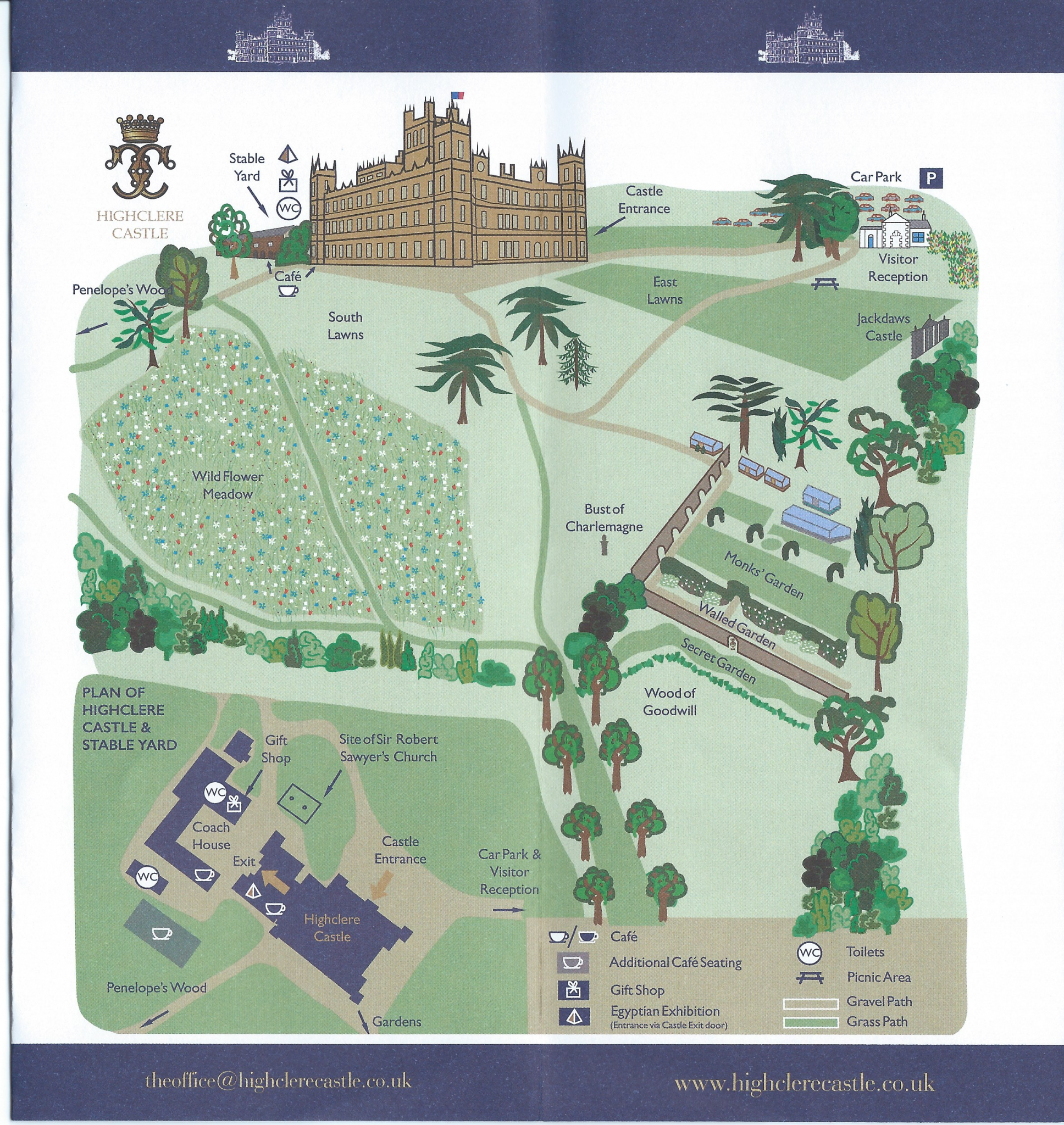 Highclere Castle Gardens map