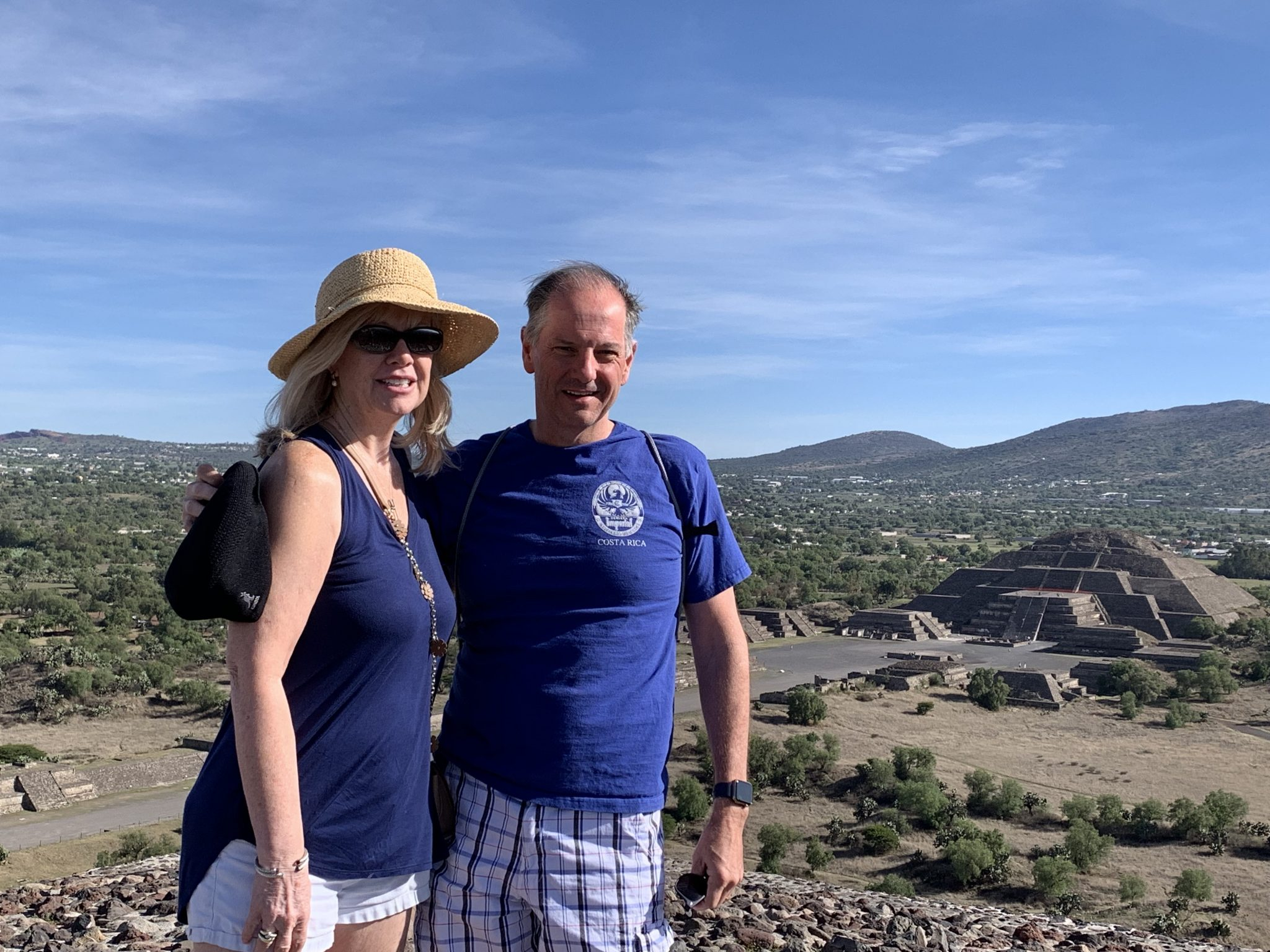 Atop the Pyramid of the Sun Teotihuacan