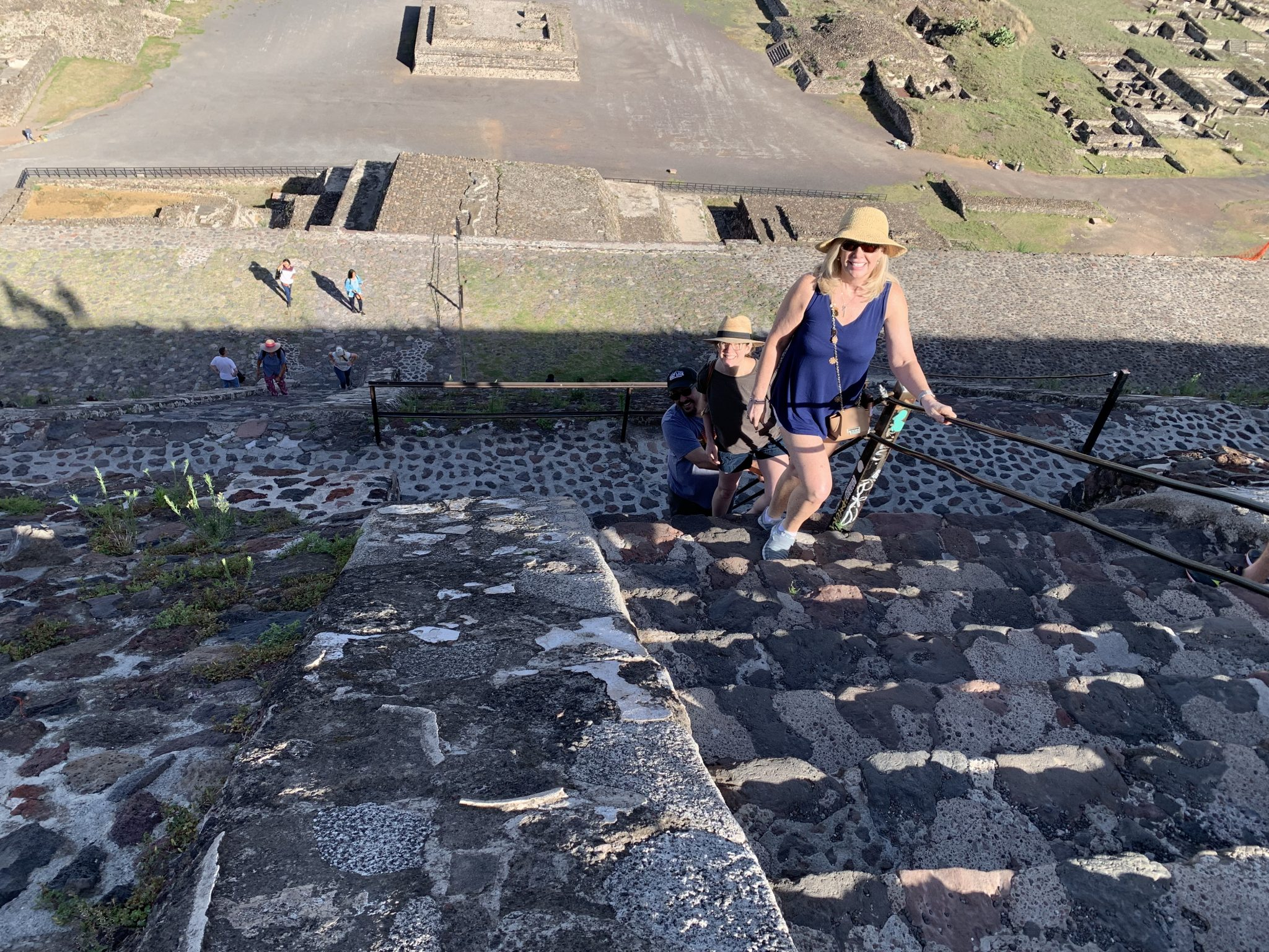 Climbing The Pyramid Of The Sun Teotihuacan