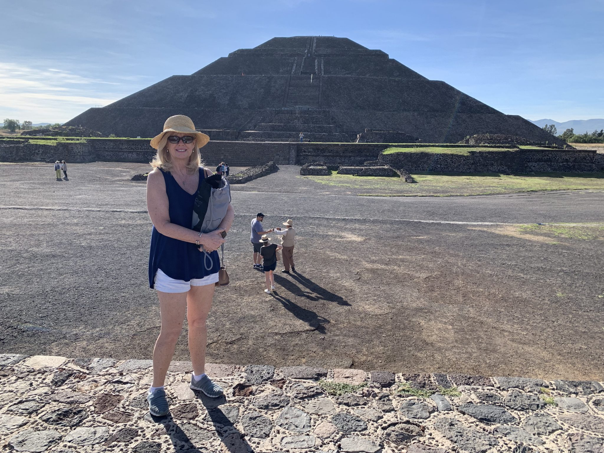 In Front Of The Pyramid Of The Sun Teotihuacan