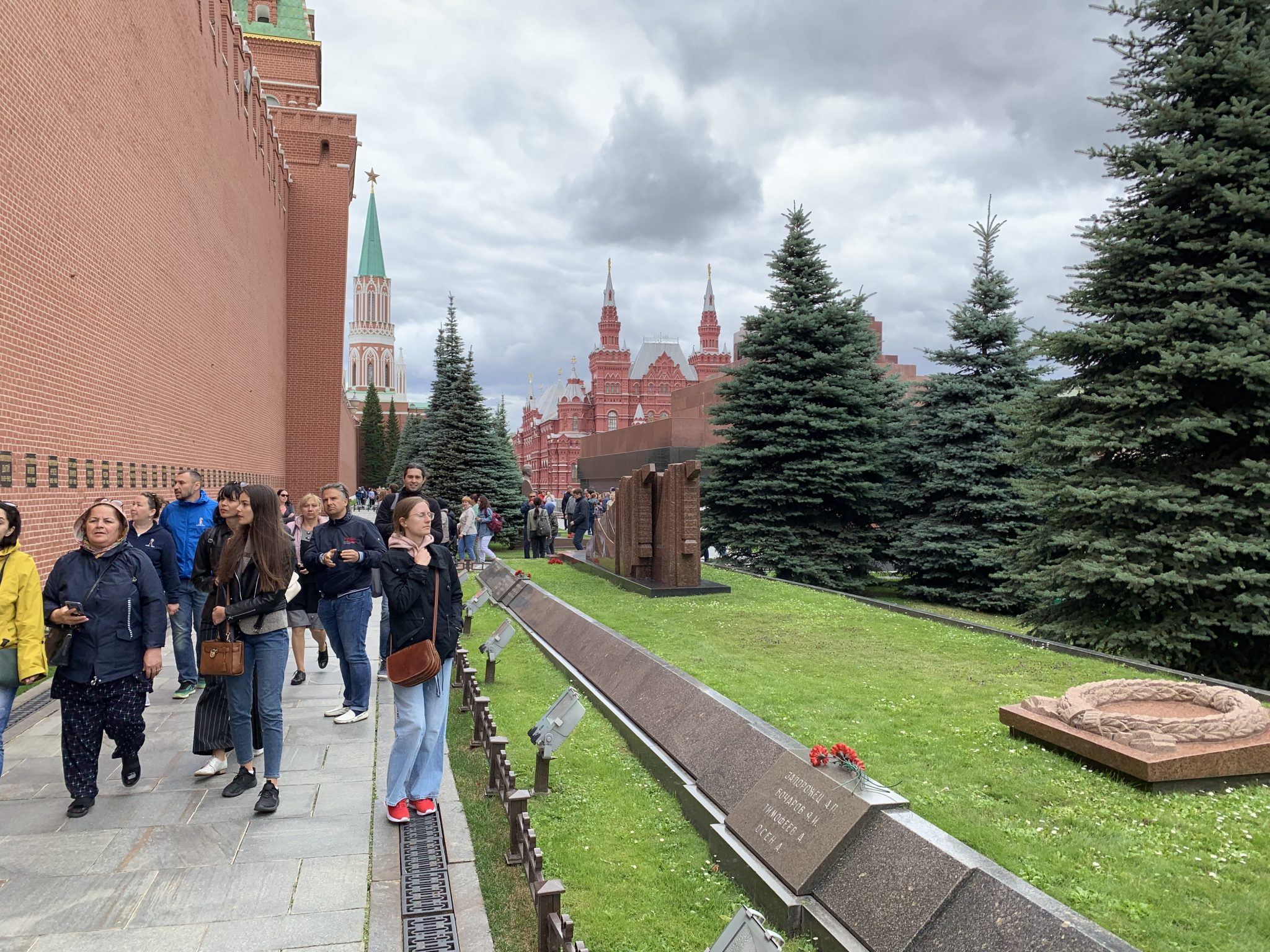 Looking back toward Lenin's Mausoleum