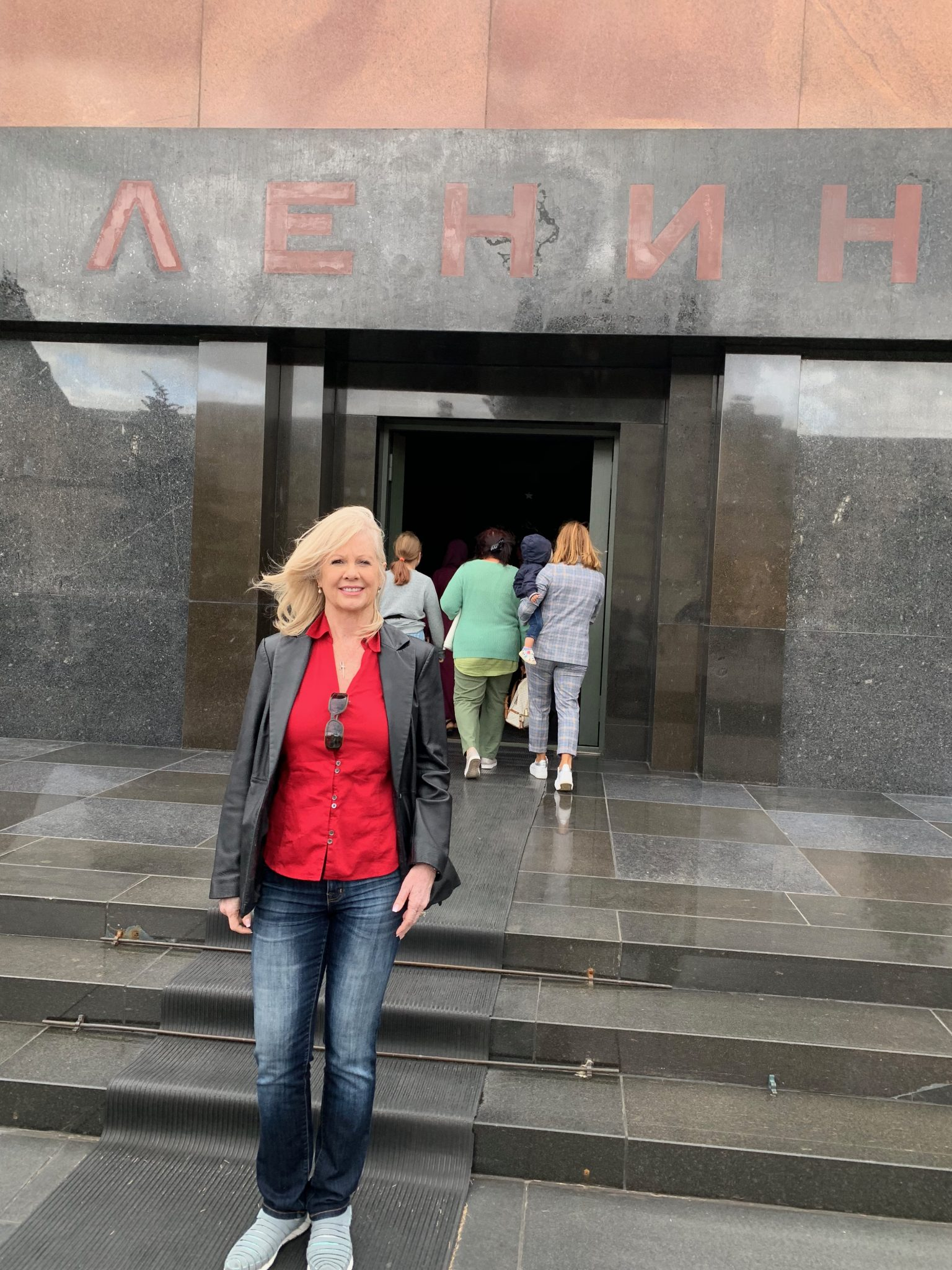 Entering Lenin's Mausoleum