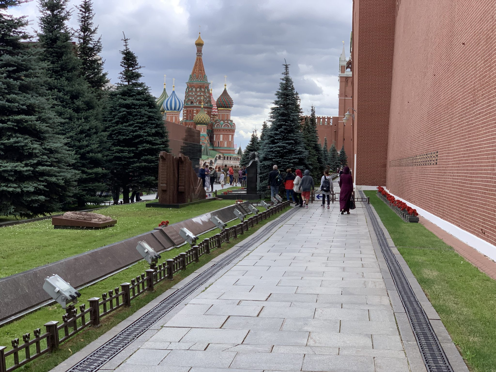 Walking Toward. Lenin's Mausoleum