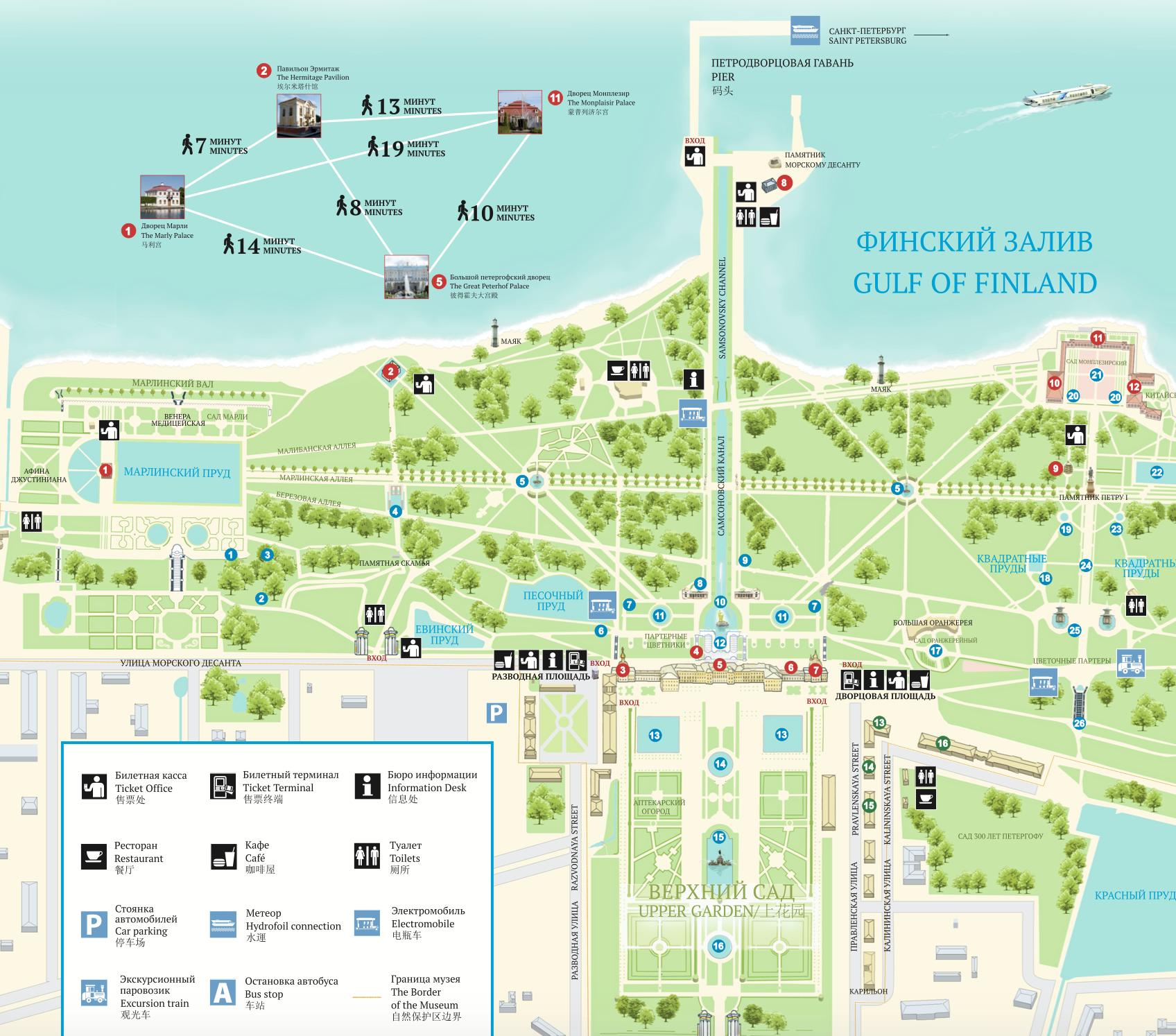 Peterhof Map