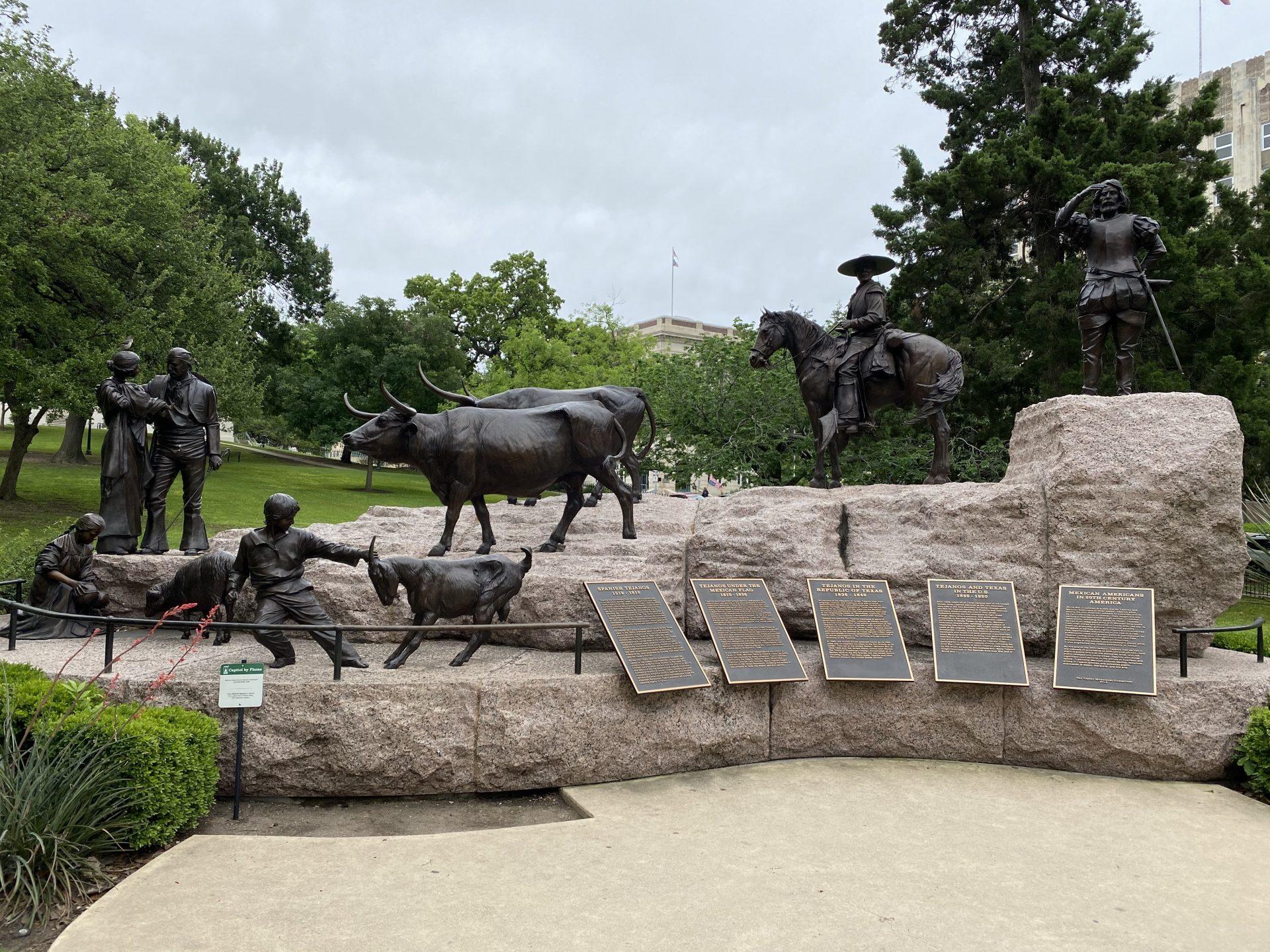 Tejano History memorial at Texas Capitol