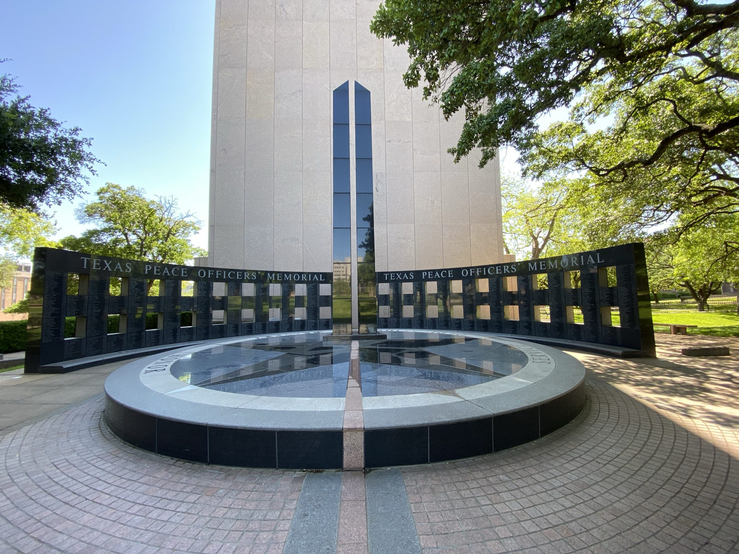 Texas Peace Officers Memorial at Texas Capitol