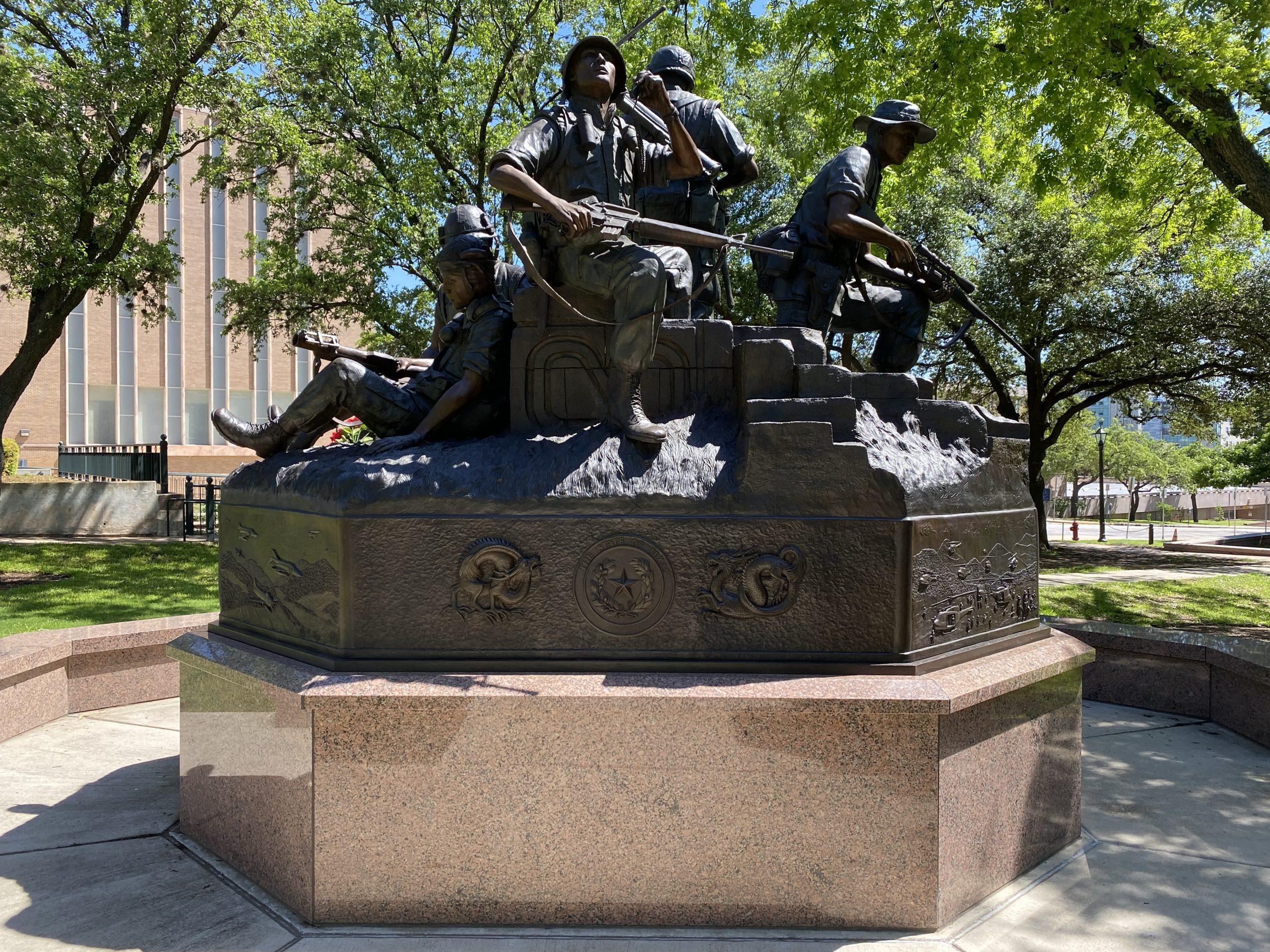 Vietnam Veterans memorial at Texas Capitol