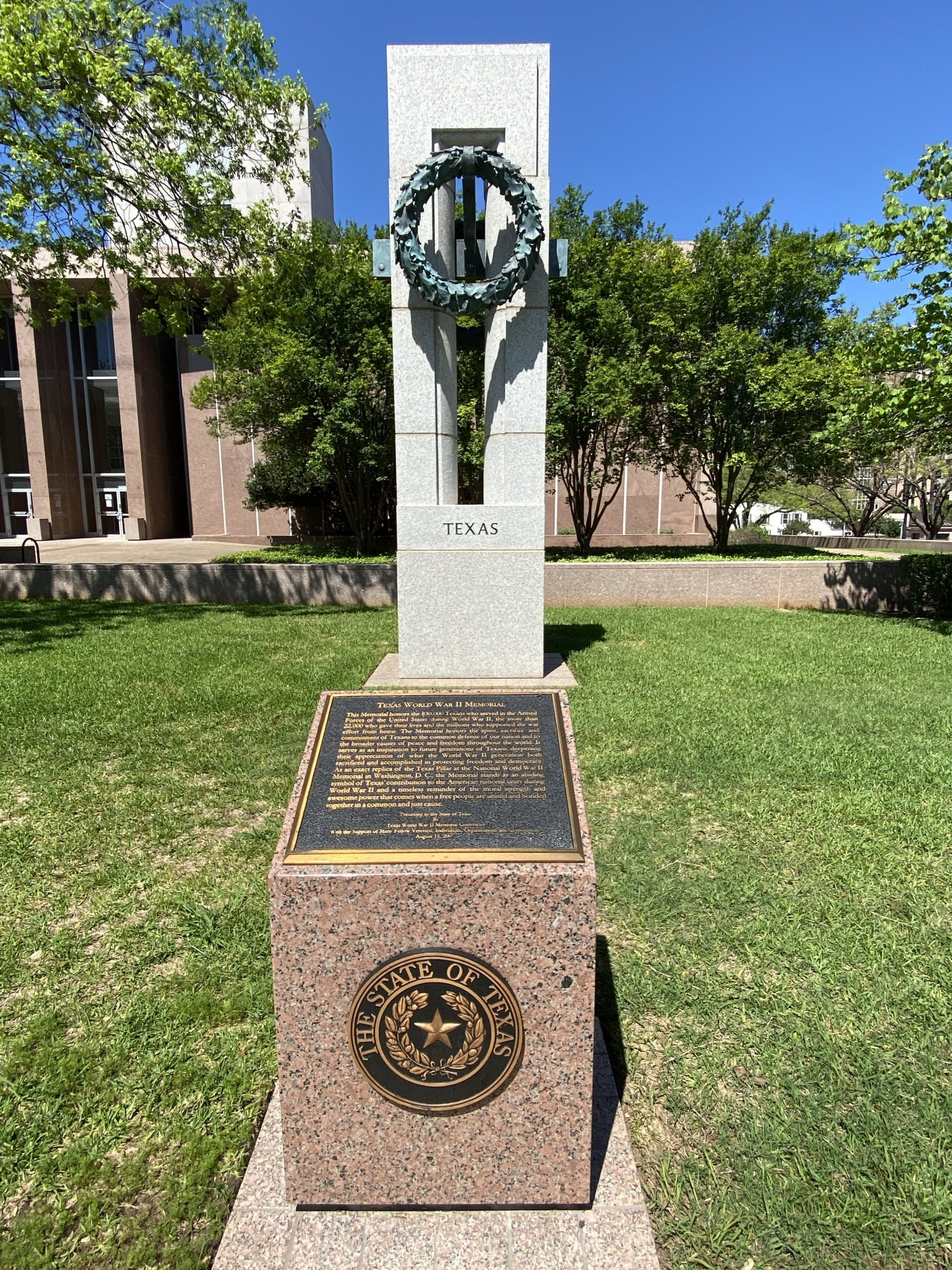 World War II monument at Texas Capitol