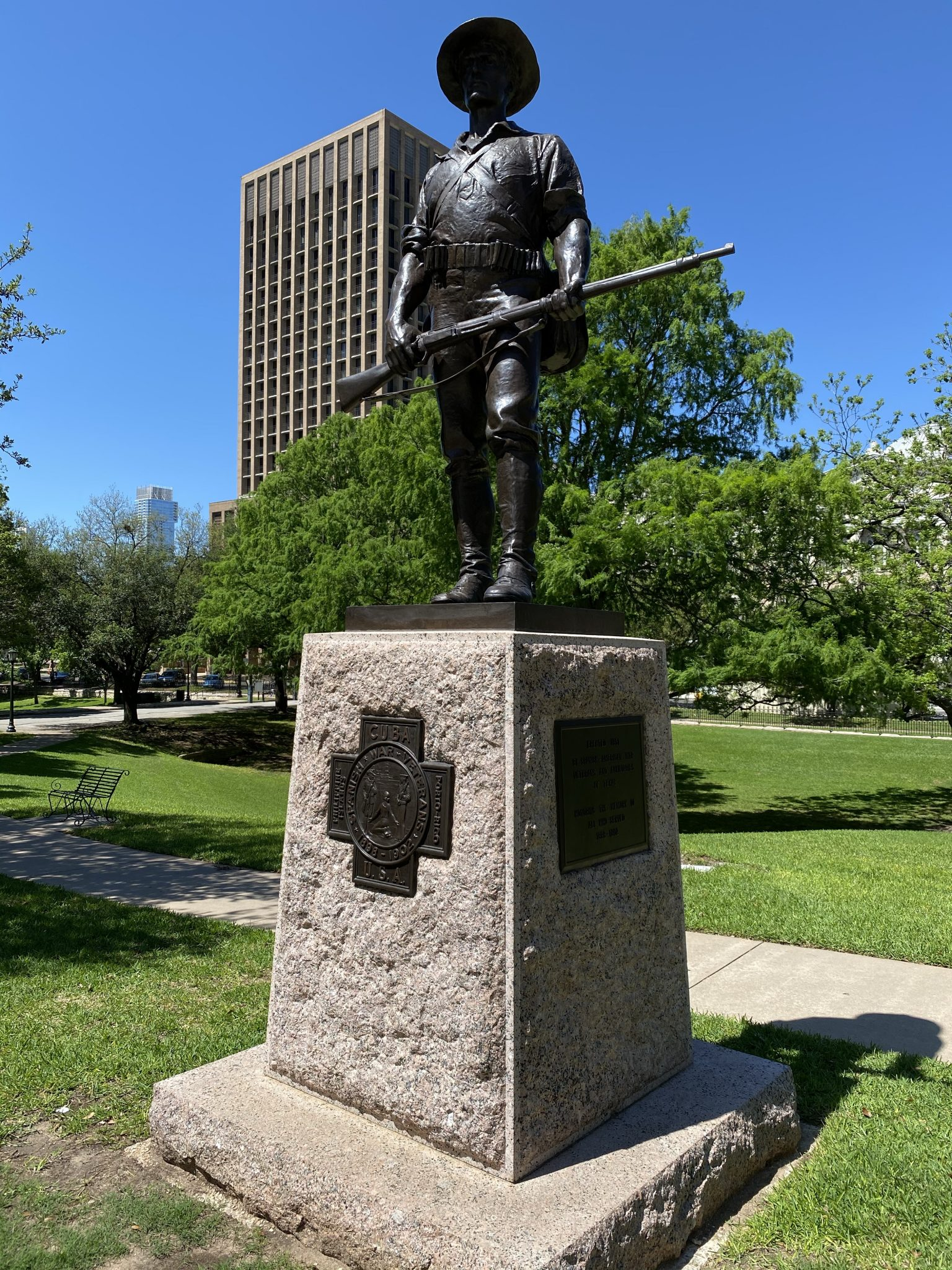 Spanish American War monument at Texas Capitol