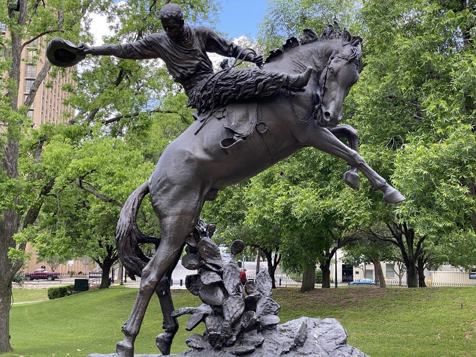 Cowboy sculpture at Texas Capitol