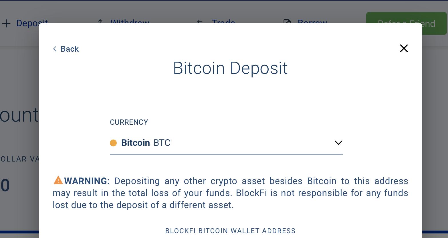 BlockFi bitcoin