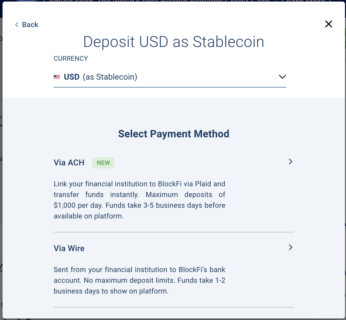 BlockFi deposit
