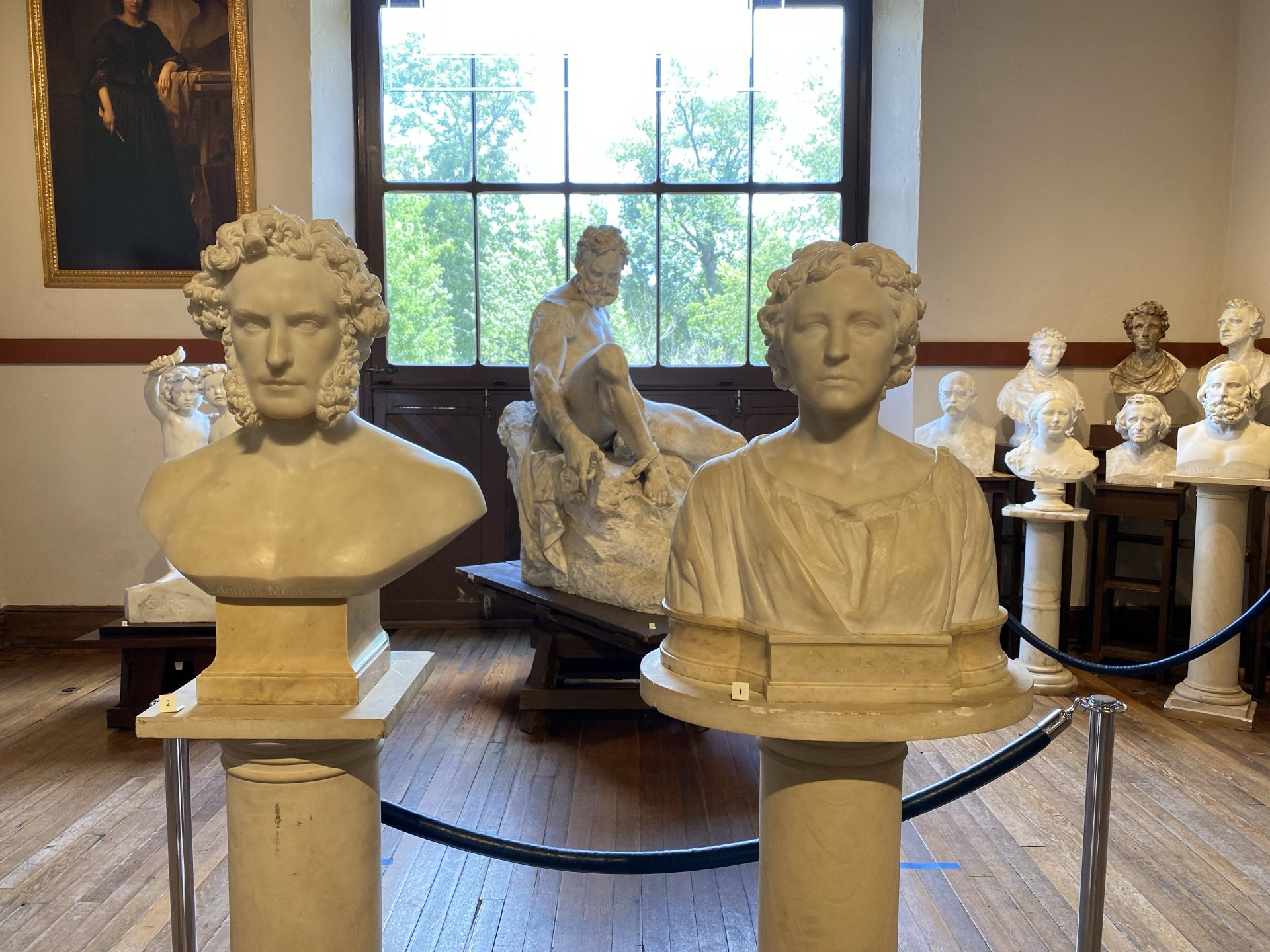 Busts of Edmund Montgomery and Elisabet Ney at the Eisabet Ney Museum